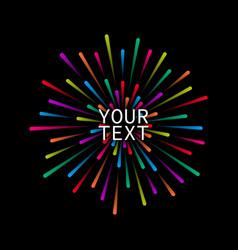 colorful fireworks set vector image