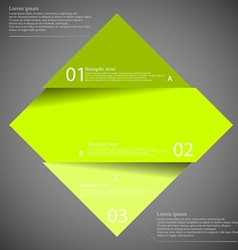 Dark inforgraphic with rhombus divided to three vector