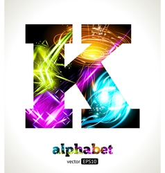 Design Abstract Letter K vector image