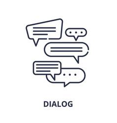 dialog line icon concept dialog linear vector image