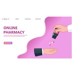 doctor giving pills patient concept vector image