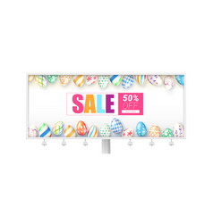 easter sale billboard with design of handwritten vector image