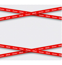 easter sale restriction red stripe zone vector image