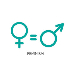 equality between men and women concept vector image