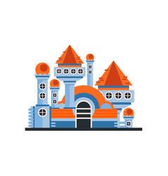 fairytale fantasy castle on a vector image