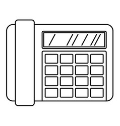 fax telephone icon outline style vector image