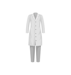 Female lab coat and pants clothes of medical or vector