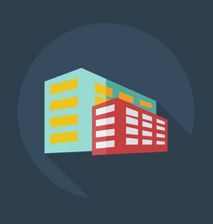 flat modern design with shadow icons building vector image