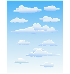 Four cute clouds vector