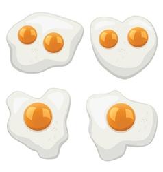 Fried eggs vector