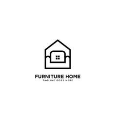 Furniture store logo design vector