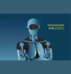 futuristic artificial intelligence robot style vector image