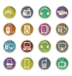 Gadget icon set vector