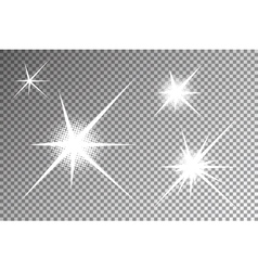 Glowing light effects vector