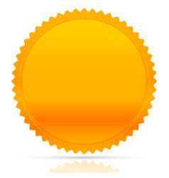 Gold starburst shape award honor badge medal vector