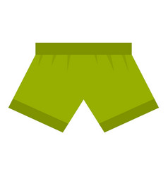 Green man boxer briefs icon isolated vector