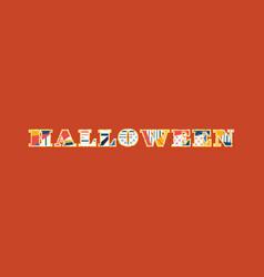 Halloween concept word art vector