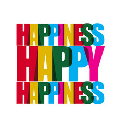 Happy happiness template design vector