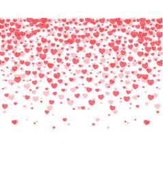 hearts confetti background vector image