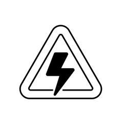 High voltage linear icon vector