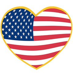 I love America heart vector