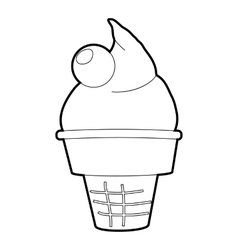 Ice cream icon isometric 3d style vector