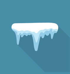 Icicle icon flat style vector