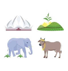 India travel icons vector