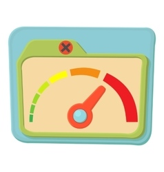 Indicator icon cartoon style vector image