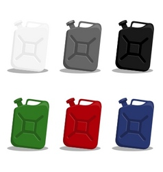 jerry can of gasoline vector image