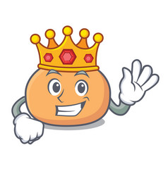 King mochi mascot cartoon style vector