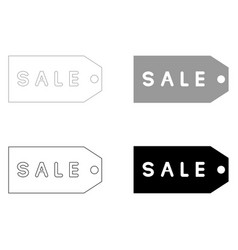 label sale the black and grey color set icon vector image