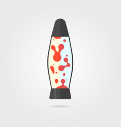 Lava lamp icon with shadow vector