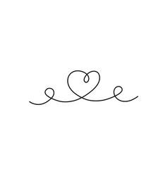 Line heart vector