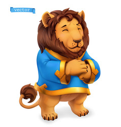 Lion funny animal 3d icon vector