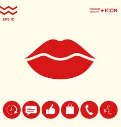 Lips symbol icon vector