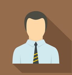 man in business suit as user icon flat style vector image