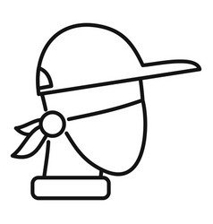Masked protester icon outline style vector
