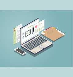medical laptop concept vector image
