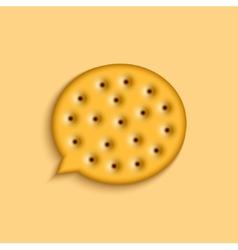 Modern cookie bubble speech vector