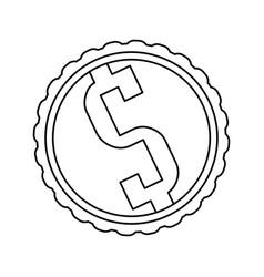 Money symbol dollar vector