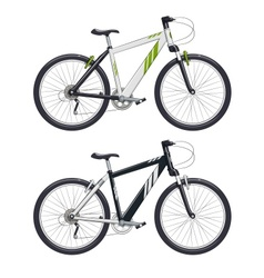 Mountain bike sport becycle vector