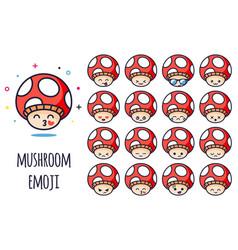 mushroom emoji vector image