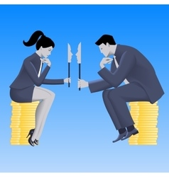 Negotiations of masks business concept vector image
