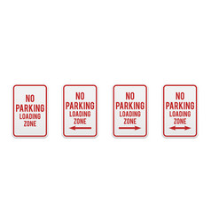 no parking loading zone vector image