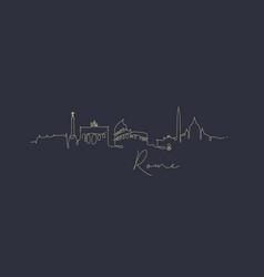 pen line silhouette rome dark blue vector image