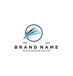 Pixel tech logo design vector