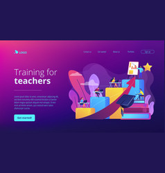 Professional development teachers concept vector