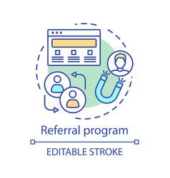 Referral program concept icon marketing campaign vector