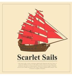 Sailing boat logo logo template and badge vector image